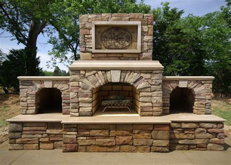 Bbq Kitchen Ideas by Outdoor Fireplace Kits Masonry Fireplaces