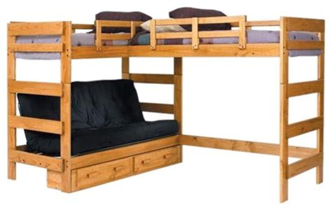 loft futon woodcrest heartland futon bunk bed with extra loft bed