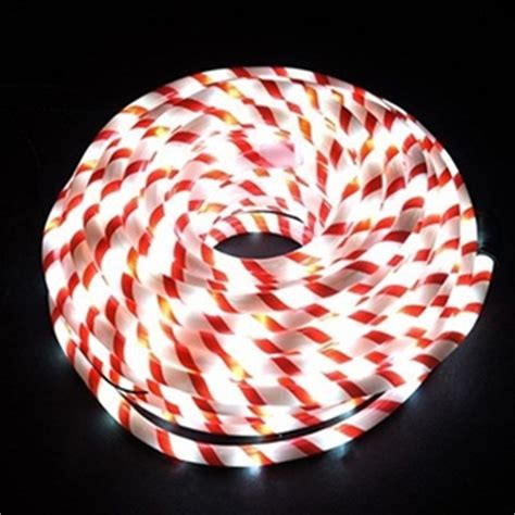 buy 20m candy cane white led christmas rope lights