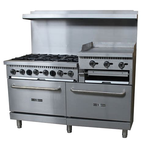Commercial Kitchen Range equipped 60 cpgv 24rg s26 60 quot 6 burner gas range w