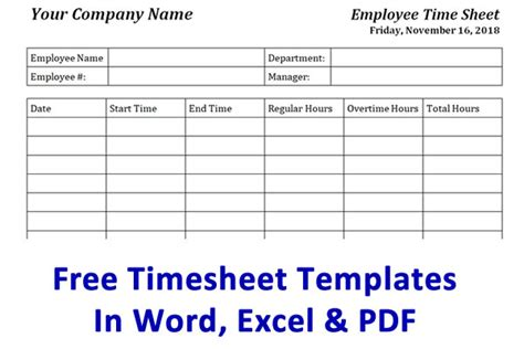 Free Timesheet Template Time Card Template Ontheclock Time Sheets Template Word