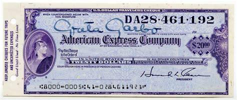 Lot Detail   Greta Garbo Signed American Express Travelers