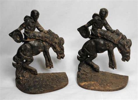 film cowboy iron horse 1927 cowboy bucking bronco horse cast iron book ends