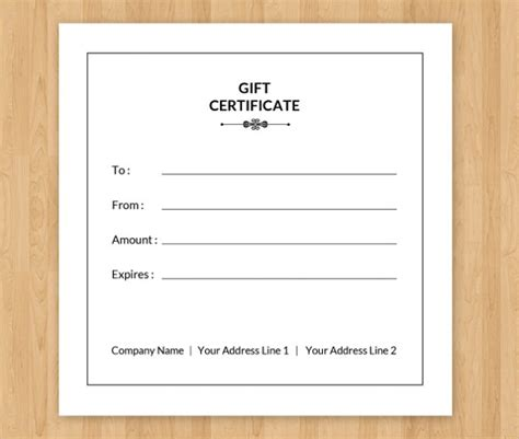 gift card certificate template sle gift certificate template 56 documents