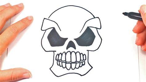 Imagenes De Calaveras Faciles Para Dibujar | c 243 mo dibujar una calavera paso a paso dibujo f 225 cil de