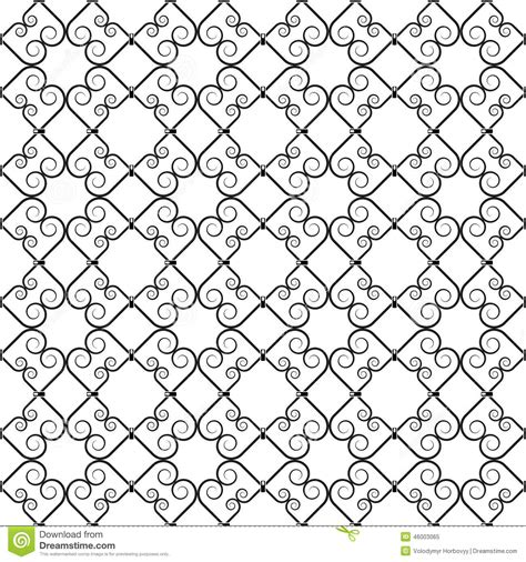wrought iron pattern stock vector image 46003065