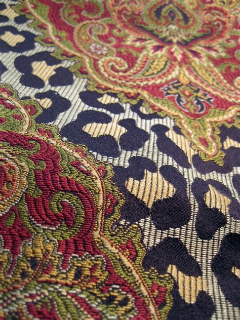 leopard print upholstery fabric upholstery fabric 1 yard leopard print with paisley