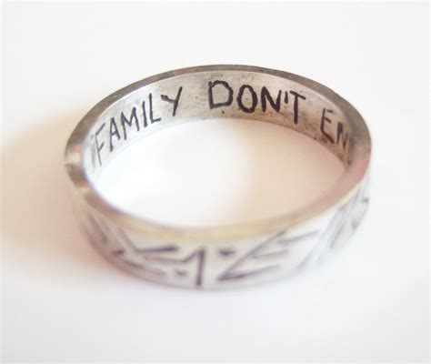 family don t end with blood tattoo supernatural family don t end with blood etched
