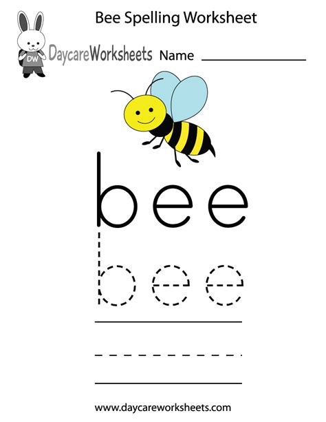 printable spelling bee games free preschool bee spelling worksheet