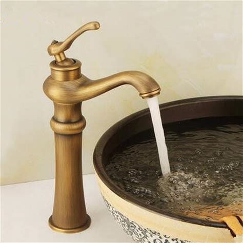 retro bathroom taps retro style antique brass finish single handle one hole