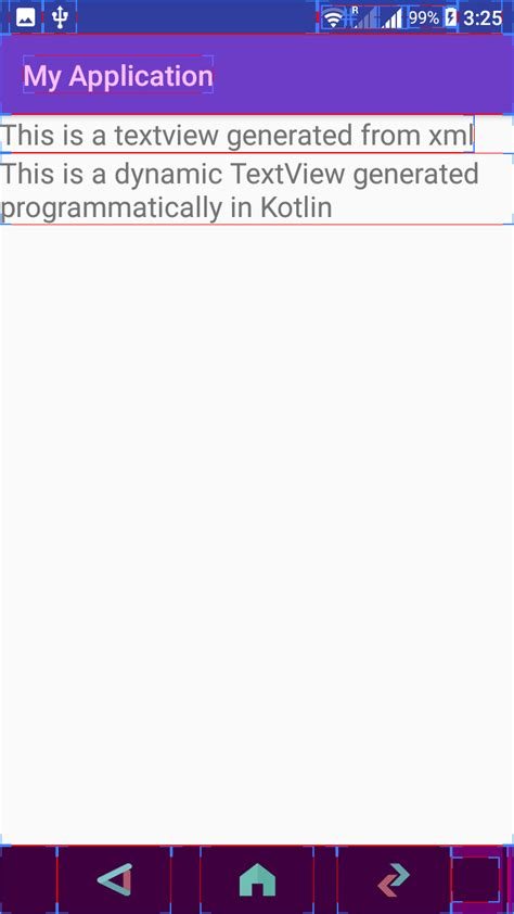 android design layout programmatically create a new textview programmatically in kotlin android