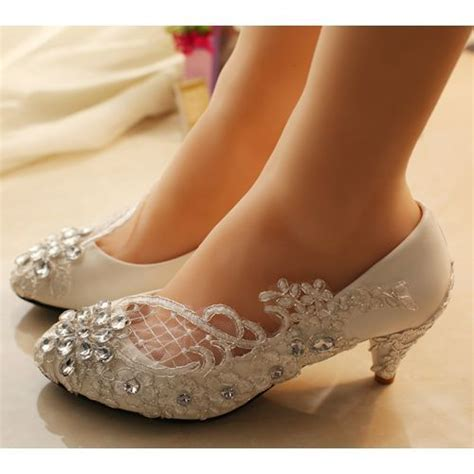 sparkly white lace wedding shoes wedding touch