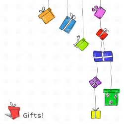 design background gift free download hanging gift boxes on white background vector clipart