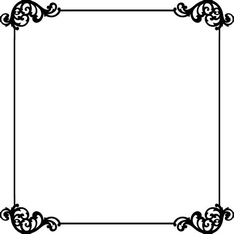 black and white border cards template black and white border template clipart best