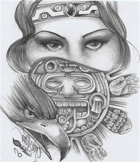 imagenes de flores aztecas tatuajes aztecas
