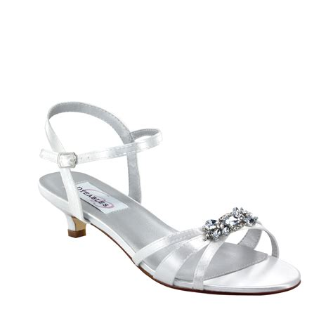 Wedding Shoes Dyeable by Dyeables Penelope White Satin 1 1 4 Quot Heel Dyeable Shoe Store