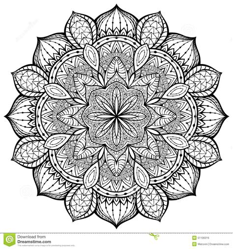 424152 yoga easy yoga zum gracioso decorativo vetor mandala em um fundo branco