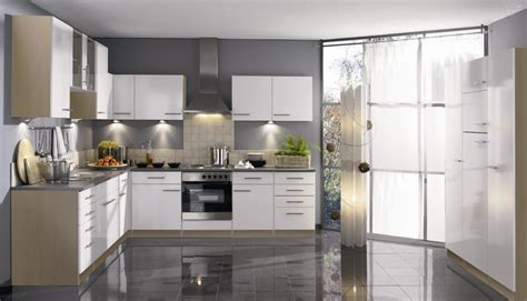 glossy white kitchen cabinets stainless steel floor tiles uk gurus floor