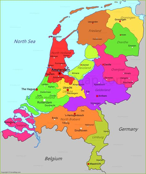 spain netherlands heat map netherlands map map of netherlands annamap