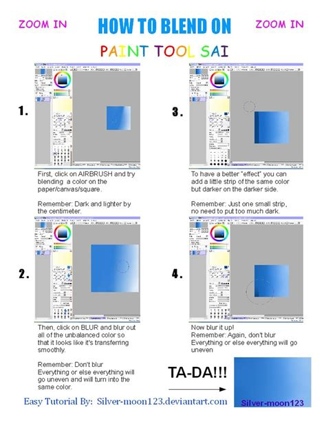 paint tool sai blending tutorial how to blend on paint tool sai by silver moon123 on deviantart