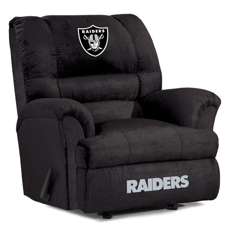 Raiders Furniture by Oakland Raiders Big Recliner