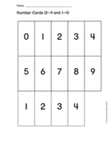 printable number cards 0 to 9 number cards 0 9 and 1 4 teachervision