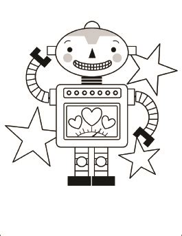 robot valentine coloring page valentine robot page coloring pages
