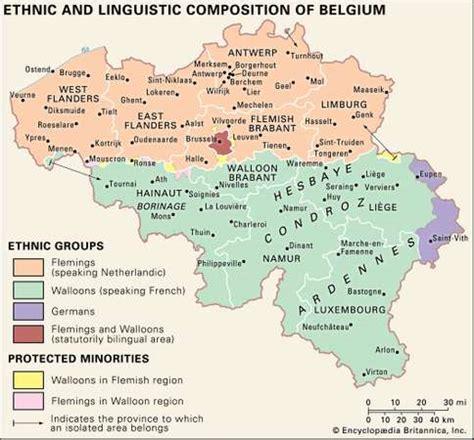 linguistic map of belgium brussels national capital belgium britannica