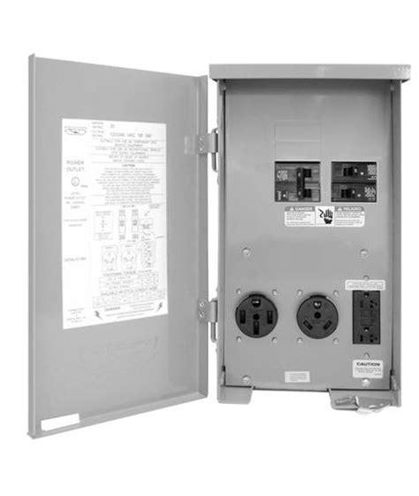 rv power outlet 120 240v 20a gfci plus 30 plus 50