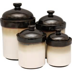 Black Ceramic Canister Sets Kitchen by Sango Nova 4 Piece Canister Set Black Walmart Com