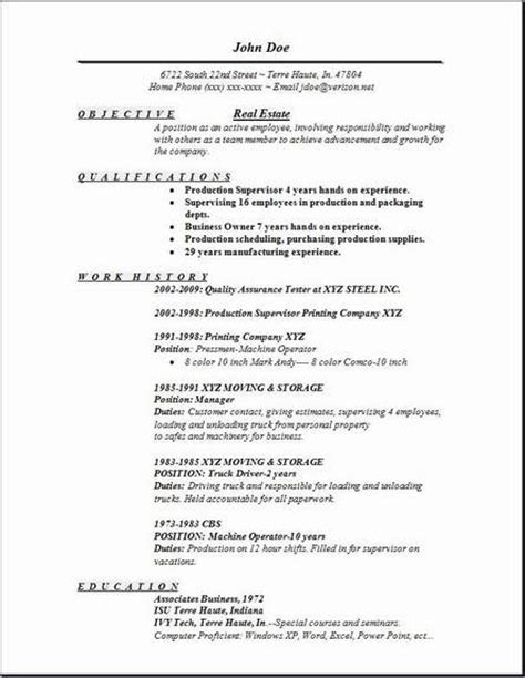 Exles Of Really Resumes by Real Estate Resume Exles Sles Free Edit With Word