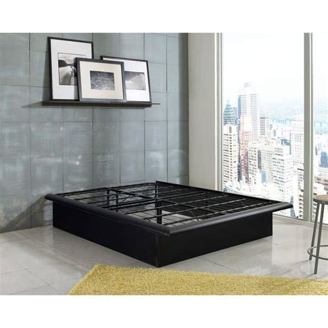 Bedroom Black Queen Platform Bed With Headboard Cheap Also Cheap Bed Frames With Headboard