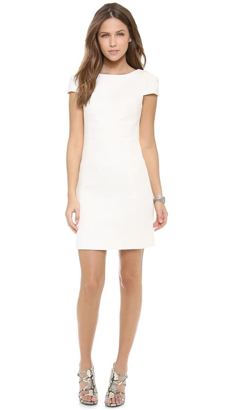 Dress Tosca Forest 4 collective cap sleeve sheath dress in white lyst