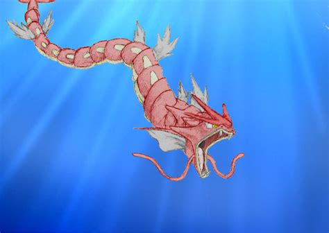 red gyarados by mvidmaster on deviantart