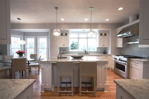 classic contemporary kitchen white cabs gray counters forgot about the flooring