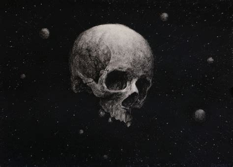 Skull Space skull in space paintings by paul rumsey hayletts gallery