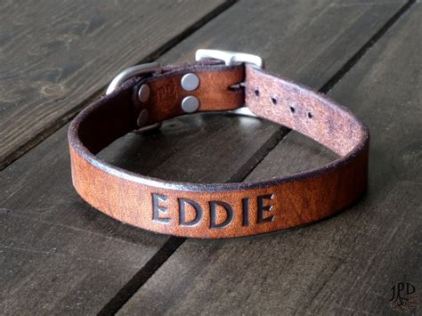 custom leather collars leather collar custom collar 1 personalized by jpdco