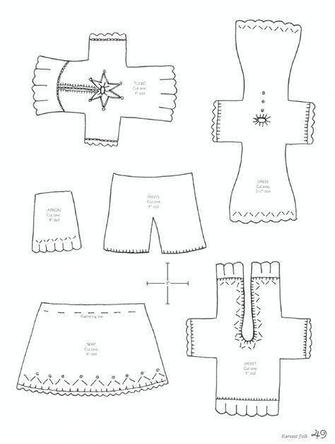 pattern for felt dress felt wee folk felt small dolls pinterest clothing