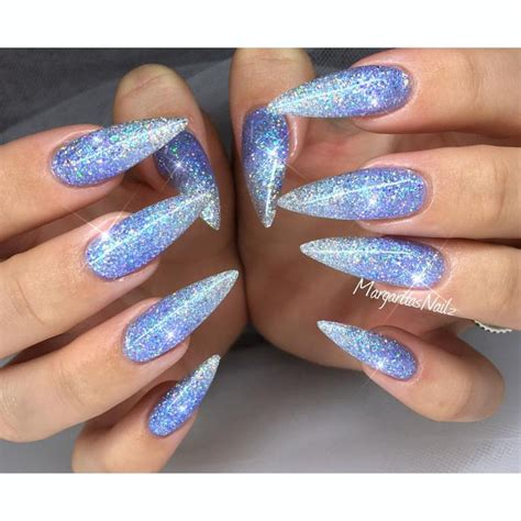 moon shape ombre glitter nail art pinterest the 25 best ballerina nails shape ideas on pinterest