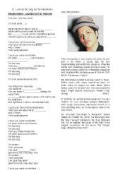 bruno mars biography worksheet english worksheets using songs worksheets page 607