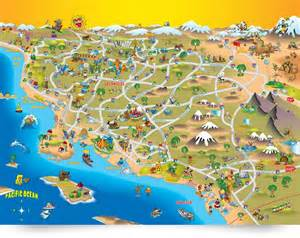 southern california map map of southern california artist dave stephens
