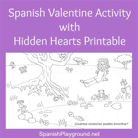 free printable hidden pictures for valentines day valentine s day archives spanish playground