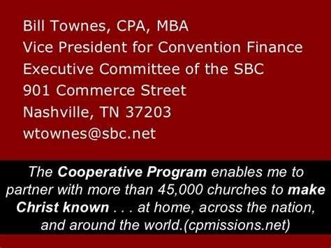Mba Finance In Nashville by Great Commission Budgeting