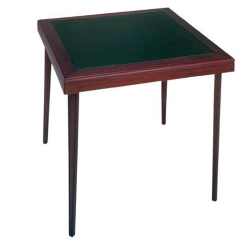 cosco 32 in x 32 in square wood vinyl mahogany folding