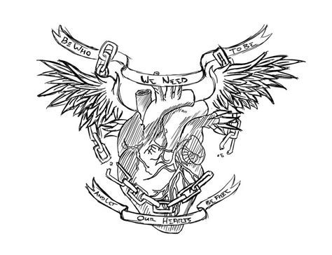heart chest piece tattoo designs banner template 86 best navy images on