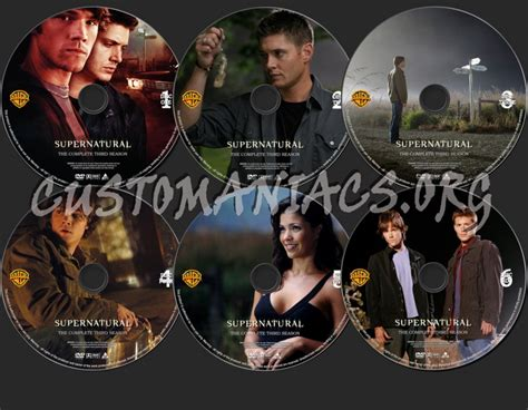 Dvd Supernatural Season 3 supernatural season 3 dvd label dvd covers labels by customaniacs id 139180 free