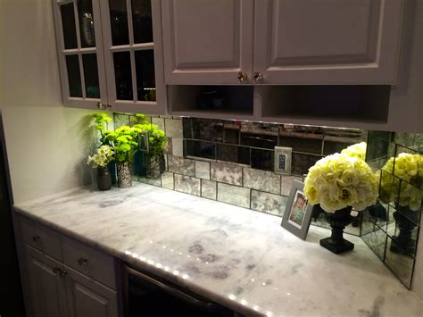 builder s glass antique mirror tile backsplash kitchen