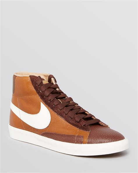 vintage high top sneakers nike blazer vintage high top sneakers in brown for