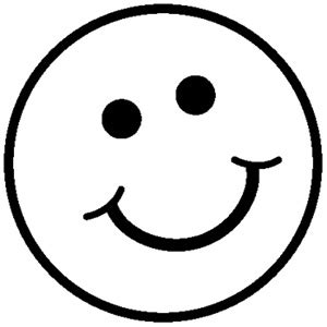 smiley face coloring pages clipart best