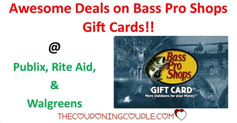 Bass Pro Shop Gift Card Cvs - awesome deals on bass pro shops gift cards multiple stores